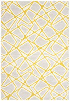 Porcello Light Gray / Yellow Area Rug