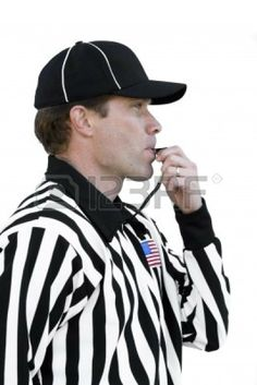Team Of Football Referees Discussing Their Decision. A Penalty ...
