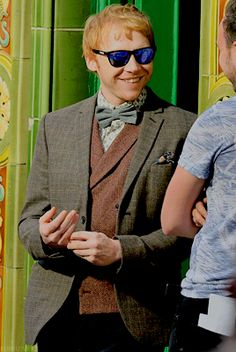 Rupert's look for his role in Snatch as Charlie Cavendish. (1 Sept 2016)