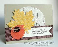 Julie's Stamping Spot -- Stampin' Up! Project Ideas Posted Daily: Holiday Catalog Control Freaks Blog Tour: Thankful Tablescape Alternative Projects