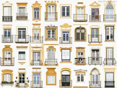 """Portuguese photographer André Vincent Gonçalves started out taking snapshots of colorful windows in his native Évora; his """"Windows of the World"""" project has since grown—and gone viral. Gonçalves spoke to Conde Nast Traveler about the windows that inspire. Timber Fencing, Metal Fence, Goncalves, D House, Backyard Fences, Fence Garden, Farm Fence, Fence Landscaping, Window Design"""
