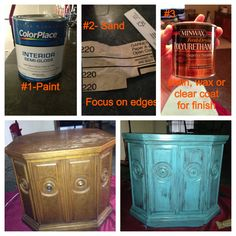 How to distress furniture - 3 simple steps -super easy