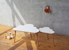 Mesas de centro de la nube - conjunto de dos mesas de anidación