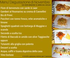 Cene d'autunno , fall dinner