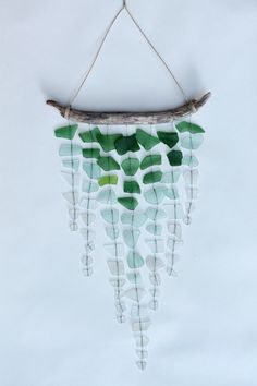 Sea Glass Driftwood Mobile via Etsy.