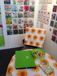 This printed sunflower fabric was for a customer's exhibition stand.