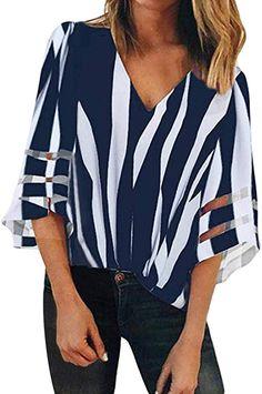 2019 nuevas mujeres usan ropa de manga larga camisas de gasa mujeres formales de manga larga tops de gasa dama azul tops de satén