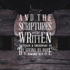 ...hope...Romans 15:4 