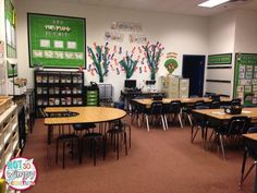 Diary of a Not So Wimpy Teacher: Teaching With Intention: Creating Your Classroom Environment Sports Theme Classroom, Classroom Layout, Classroom Setting, Classroom Design, School Classroom, Classroom Decor, Future Classroom, Teacher Desk Decorations, Classroom Pictures