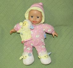 Fisher Price DOLL 2005 Mattel Light Up Musical Sleepy Eyes Coos Pink Yellow LUVY #Dolls