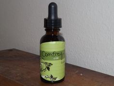 Newest tincture on Etsy shop! Comfrey, also known as Knitbone, is indicated for any rapid wound or bone healing. It can be used both internally and externally for healing of fractures, wounds, sores and ulcers. The astringent property makes it useful for stopping hemorrhage.