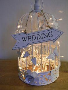 Klatka z lampkami - dekoracja
