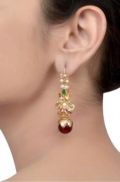 Silver Gold Plated Floral Pearl Ball Earrings
