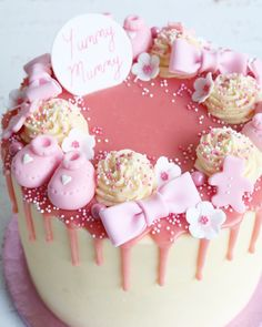 Buttercream drip cakes are a great choice for any celebration. Baby Shower Drip Cake, Unique Baby Shower Cakes, Baby Shower Cupcakes For Girls, Baby Shower Sweets, Baby Shower Cakes Pink, Baby Cakes, Birthday Drip Cake, Pink Cake Pops, Chocolate Babies