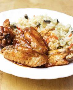 10 idei rapide pentru cina - partea a 2-a - Ama Nicolae Jacque Pepin, Chow Mein, Chicken Wings, Recipies, Food And Drink, Menu, Healthy Recipes, Breakfast, Ferrero Rocher