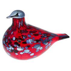 $265.00 / iittala Toikka Ruby Red Bird - 2005 & Earlier Toikka Birds