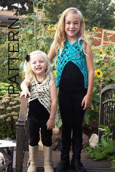 Isabelle Girls Vest Crochet Pattern  PDF by babybuttercup on Etsy