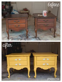 Trash-to-Treasure nightstand transformation!