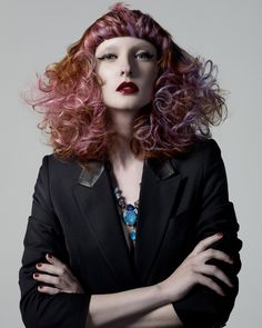 Chris Williams for Rush - Punk Deco #chriswilliams #rushhair #haircut #mnk #hairdye #colorhair #цветныеволосы #окрашивание #стрижки  Hair: Chris Williams International Colour Director Make-Up: Adam Burrell Styling: M.N.K. Photographer: Ram Shergill
