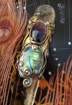 Luna Blue's Gypsies of Fortune Crystal Wand by LunaBlueBoutique, $163.00