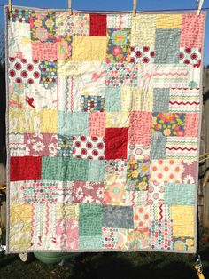 A Piece of Cake tutorial - quick, easy lap quilt with a layer cake