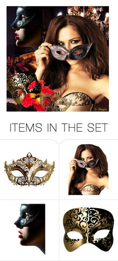 """""""Masquerade"""" by deborah-strozier ❤ liked on Polyvore featuring art and modern"""