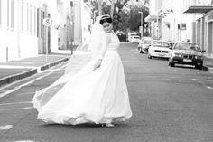 Brides and their veils.  #windblown #bride #veil #blackandwhite #weddingphotography #tiara