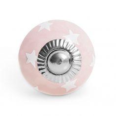 Keramikknauf Abendstern rosa klein