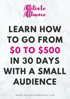 If you want to learn how to make good money through affiliate marketing with a small audience, I recommend you join the Affiliate Affluence course which teaches you how to go from $0 to $500 in 30 days! Click here for more info!