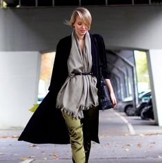 Outfit 32: via @WhoWhatWear check out the scarf layered under the trench coat. love it