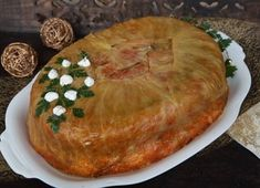 Töltött káposzta torta | CivilHír Hungarian Recipes, Hungarian Food, Vegetable Casserole, Just Eat It, Cabbage Recipes, Food Pictures, Camembert Cheese, Dairy, Pie