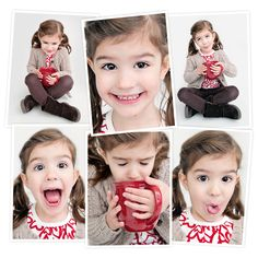 Photos for my daughter's Valentine card, which we paired with a  hot chocolate packet!