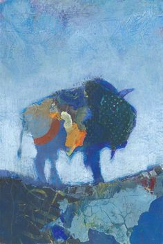 Bison Original Painting by ShelliWalters on Etsy