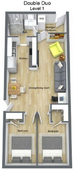 Double 40ft x16ft container home