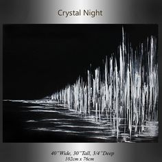 Minimalistische schwarz weiss Kunst Crystal von largeartwork