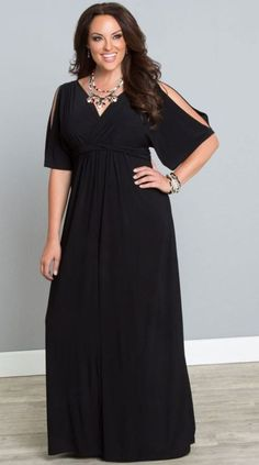 Formal dress for special events Attractive Plus Size Maxi Dresses With Sleeves