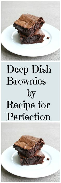 You haven't lived until you've had these deep dish brownies.  This is my favorite brownie recipe ever!
