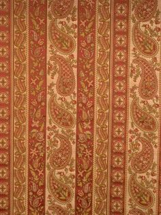 Trend paisley striped pattern 01655 in color Azalea from the Lifestyles II collection. #colortrend