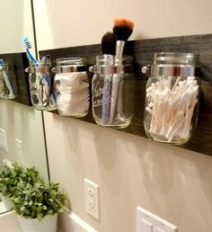 Great storage solution for frequently used bathroom items. No more messy countertops and digging through cluttered drawers :)
