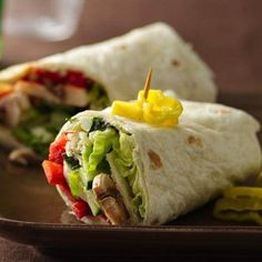 Veggie Wraps..I would go with low fat or fat free cream cheese to make this wrap a little healthier. OldElPaso.com
