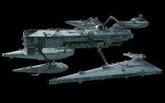 Fan art of a Star Destroyer tender/resupply ship