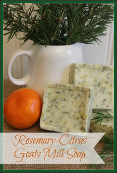 The best DIY projects & DIY ideas and tutorials: sewing, paper craft, DIY. DIY Skin Care Recipes : How to Make Homemade Goats Milk Soap - This is my recipe for Rosemary-Citrus Soap. Its so easy you will thank me! Soap Making Recipes, Soap Recipes, Goat Milk Recipes, Ideias Diy, Goat Milk Soap, Handmade Soaps, Diy Soaps, Homemade Beauty Products, How To Make Homemade