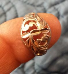 925 Sterling Silver Ring Ladies Fashion Floral Size by EtsyValues, $24.99