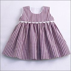 Diy Crafts - black and white check dress Girls Dresses Sewing, Frocks For Girls, Little Girl Dresses, Baby Frocks Designs, Kids Frocks Design, Kids Dress Wear, Baby Dress Design, Baby Girl Dress Patterns, Kids Outfits