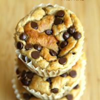 . banana oat greek yogurt muffins .