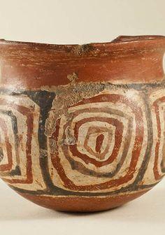 Vaso decorado Paola Gonzalez, Inca, Meraki, Decorative Bowls, Pottery, Vases, Painted Birds, Norte, Slanted Walls