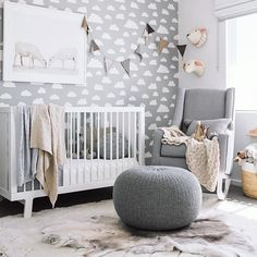 Find out how to decorate a gender neutral nursery. Also included in the post is a modern gender neutral nursery design board. Grey And Navy Nursery, Baby Nursery Neutral, Baby Nursery Decor, Baby Bedroom, Baby Boy Rooms, Nursery Design, Baby Boy Nurseries, Nursery Room, Unisex Nursery Ideas