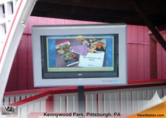 Kennywood Park Pittsburgh PA - Outdoor Digital Signage Protection for Amusement Parks, ViewStation Universal by ITSENCLOSURES #ViewStation