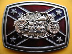 Southern Rebel CSA Star Flag Chopper Biker Bike Motorcycle Belt Belts Buckle Buckles