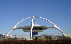 the Theme Building at Los Angeles International Airport (designed by James Langenheim, and completed in 1961)